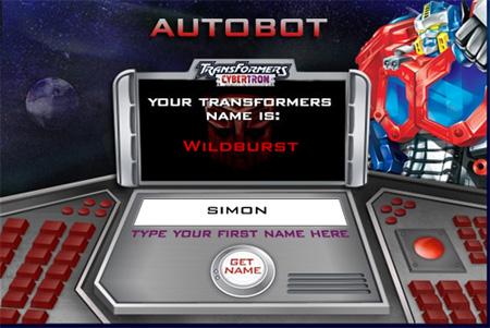 Transformers Name Generator