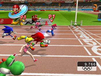 Mario and Sonic at the Olympic Games - 100m