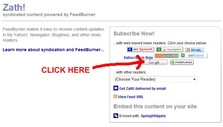 Subscribe to Feedburner Feed using Google Reader