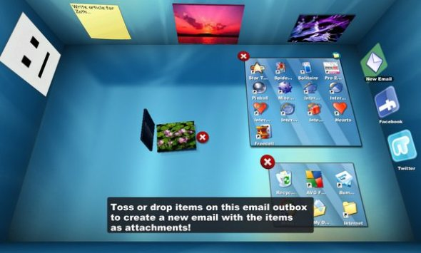 Bumptop review 3d desktop application zath for Cuisine 3d mac os x