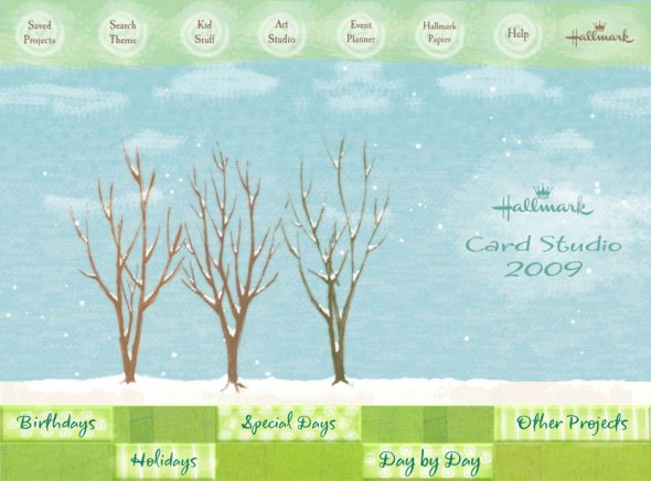 Hallmark card studio deluxe 2009 review personalised greeting cards hallmark card studio deluxe main menu screenshot m4hsunfo