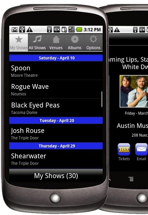 iconcertcal-android-app-my-shows-nexus-one-screenshot