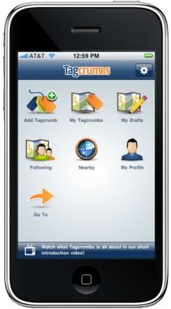 tagcrumbs-iphone-app-menu-screen-screenshot