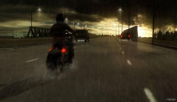 heavy-rain-motorbike-road-sun-distance-screenshot