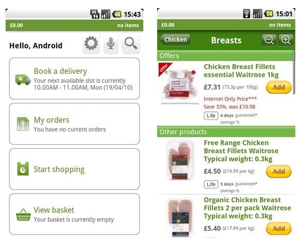 ocado-android-app-screenshots