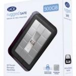 LaCie Rugged Biometric Fingerprint Safe Portable External Hard Disk