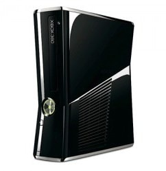 Microsoft-XBox-360-slim-quiet-shiny-black-console