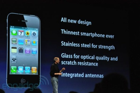 apple-iphone-4-steve-jobs-wwdc-keynote-new-hardware-design-features