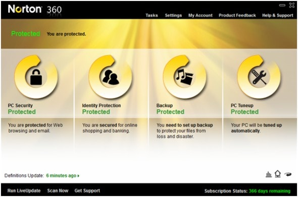 norton-360-version-4.0-anti-virus-internet-security-suite-main-menu-screenshot