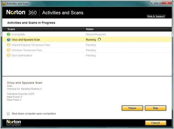 norton-360-version-4.0-anti-virus-internet-security-suite-scan-screenshot