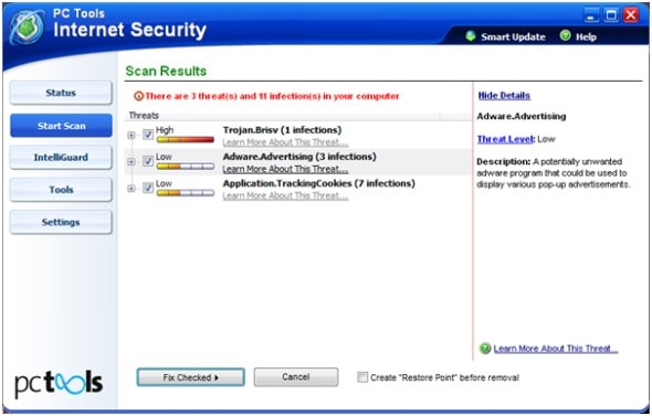 pc-tools-internet-security-2010-scan-results-screenshot