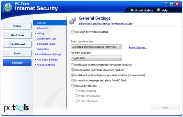 pc-tools-internet-security-2010-settings-screenshot