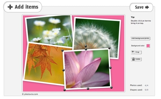 photovisi-online-photo-collage-add-items-screenshot
