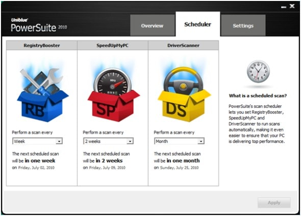 uniblue-power-suite-2010-scheduler-screenshot