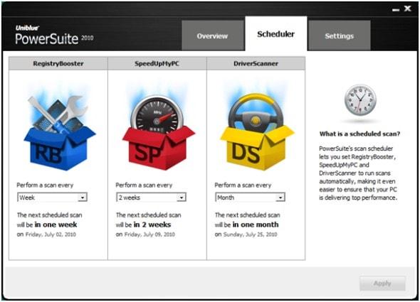 uniblue-power-suite-2010-scheduler-screenshot
