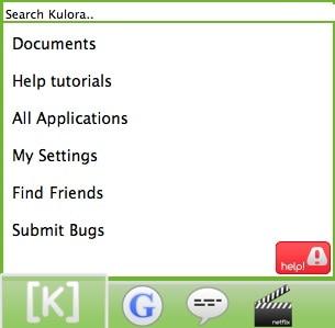 kulora-social-network-menu-screenshot