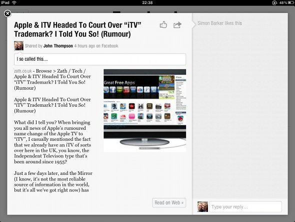 flipboard zath apple itv article