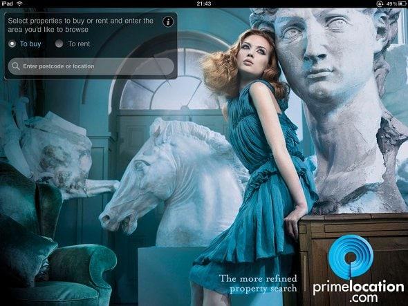 primelocation main screen
