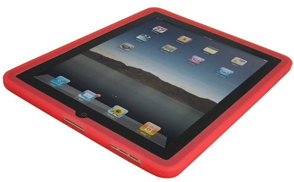 silicone-ipad-case-cover-red-front-view