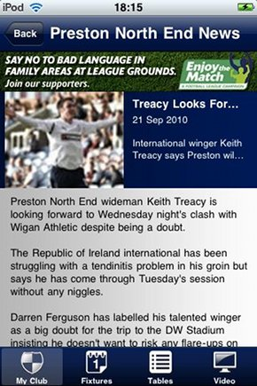 football-league-iphone-app-news