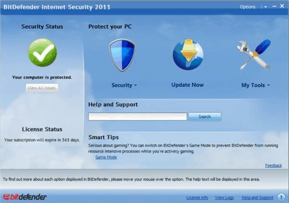 bitdefender internet security 2011 590x416 BitDefender Total Security 2011