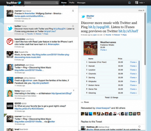 Screen shot 2010 11 11 at 23.55.14 590x512 Twitter And iTunes Ping Get Cozy, Cheat On Facebook!