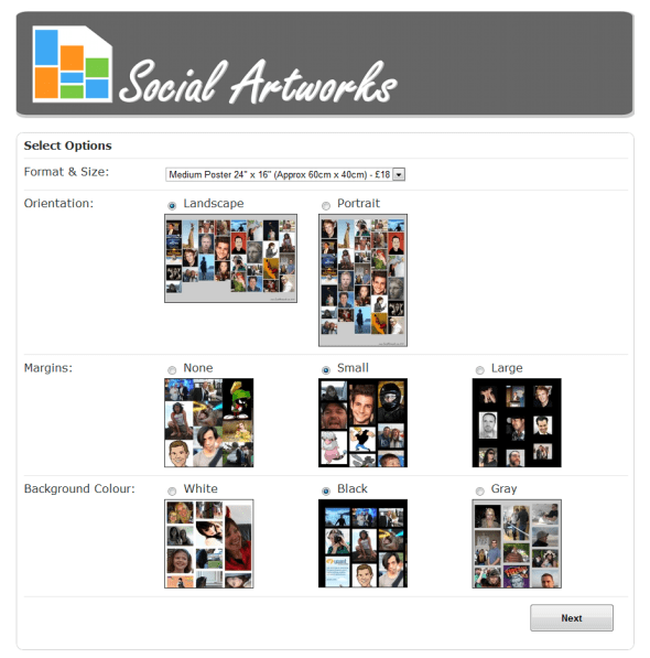 social-artworks-facebook-profile-pictures-poster-canvas-options-screenshot