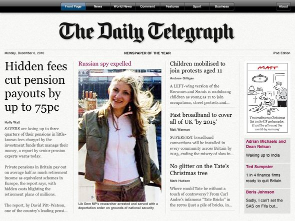 telegraph-ipad-frontpage