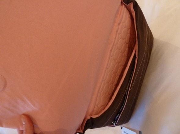 brenthaven elite sleeve laptop bag inside view
