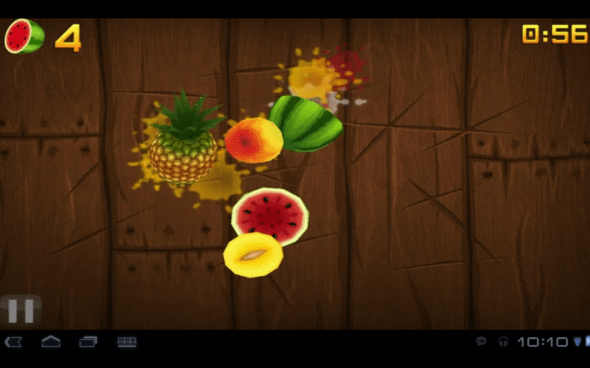 android honeycomb fruit ninja tablet 590x368 Google Shows Off Android 3.0 Honeycomb Demo At Its Press Event