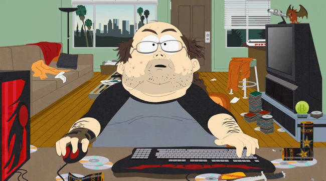 South Park gamer stereotype character